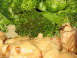 Broccoli and chicken with cheese